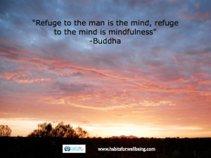 """Quote - """"Refuge to the man is the mind, refuge to the mind is mindfulness"""" Buddha"""