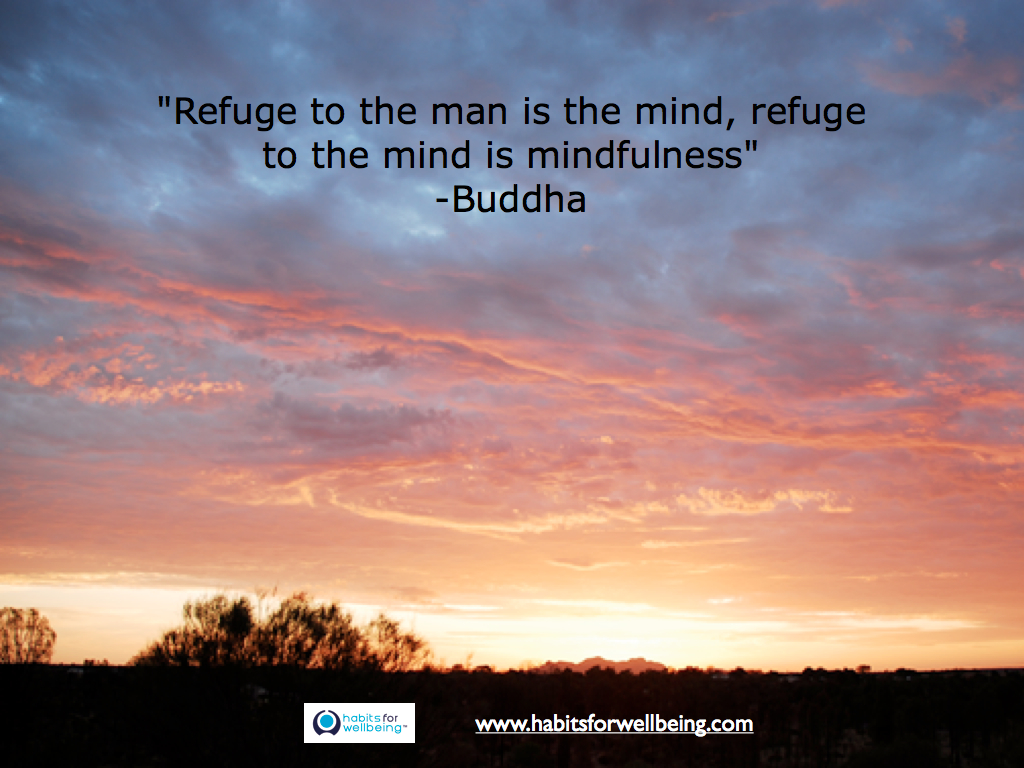 "Quote - ""Refuge to the man is the mind, refuge to the mind is mindfulness"" Buddha"