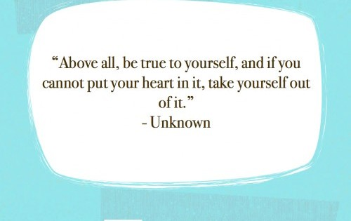 Quote Above All Be True To Yourself